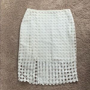 White House Black Market white pencil skirt